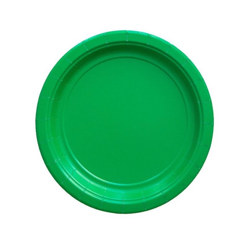 Solid Green Party Plates