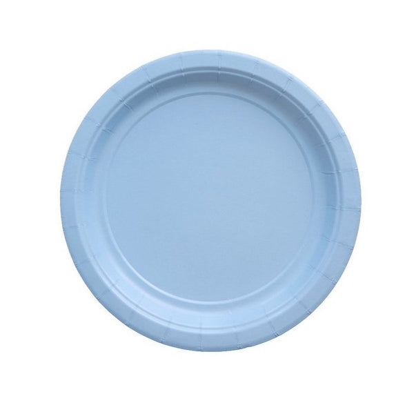 Light Blue Party Plates - Witty Bash