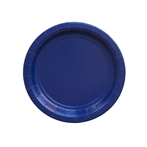 Navy Blue Party Plates - Witty Bash