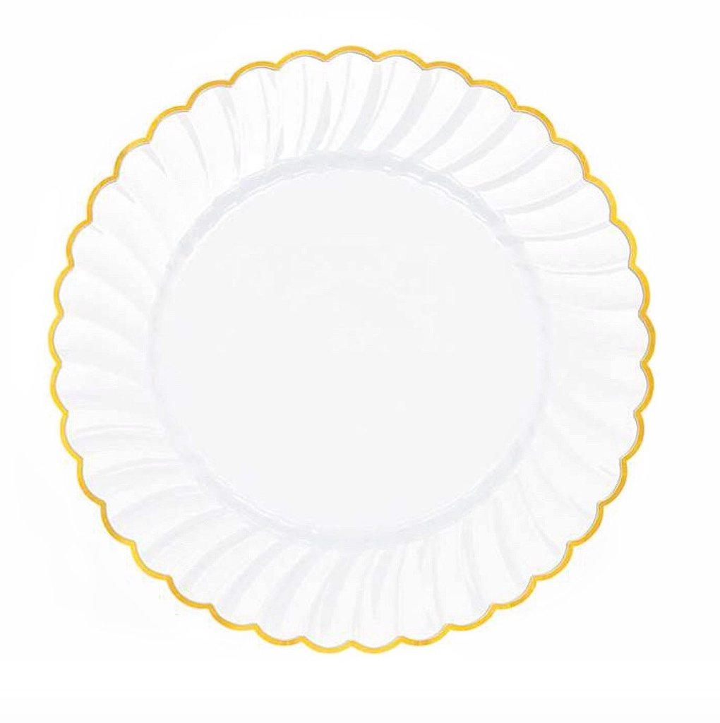 Gold Formal Disposable Dinnerware