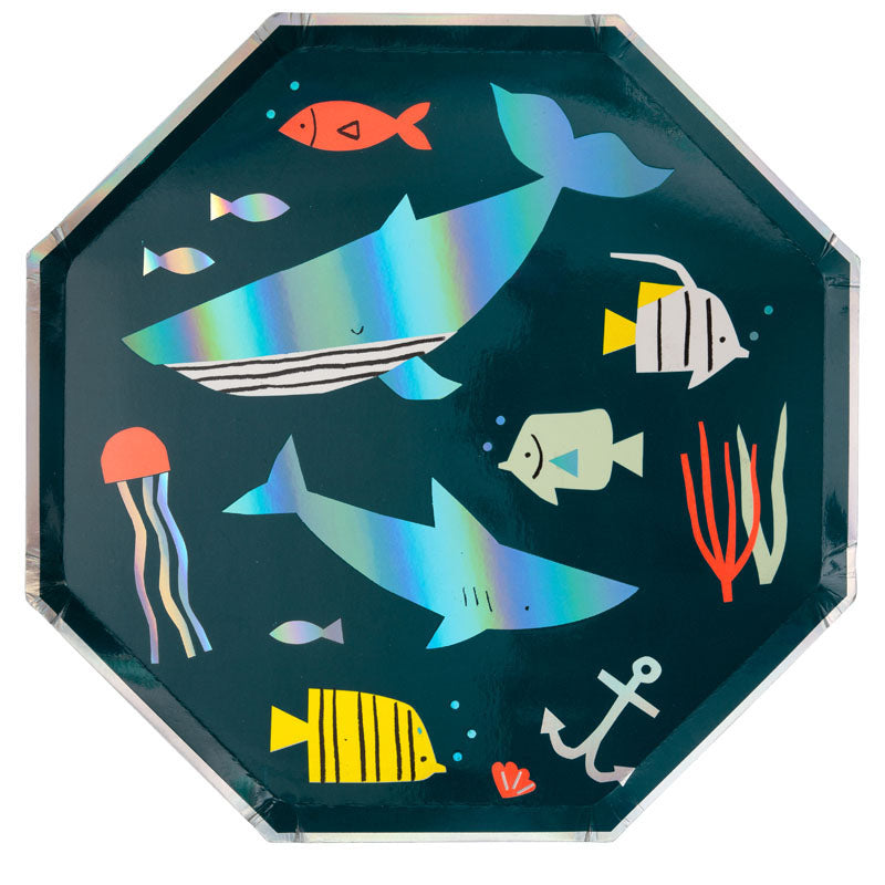 Colorful Under the Sea Plates