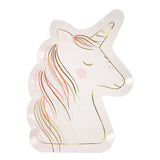 white paper unicorn plates