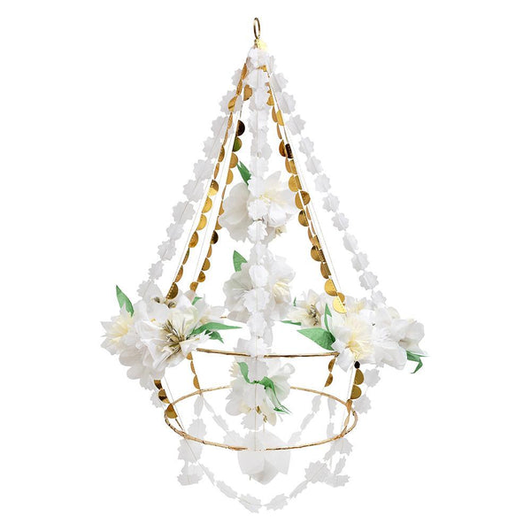white flower chandelier