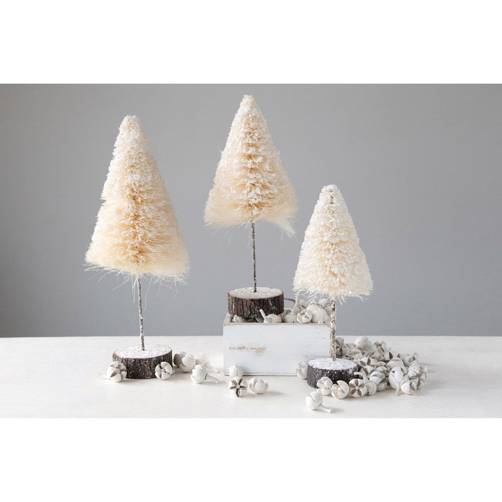 cream christmas trees