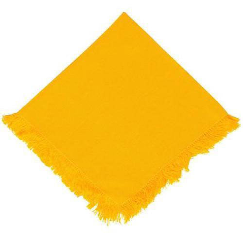 yellow dinner napkin with fringe