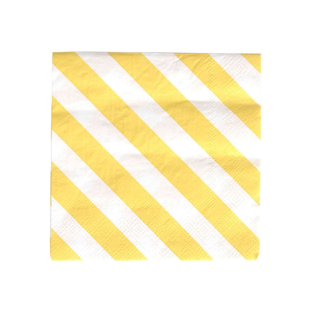 Yellow Striped Napkins