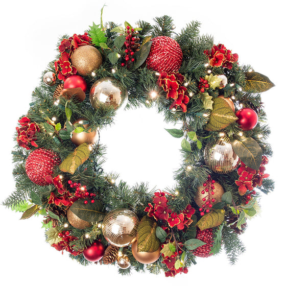 All Battery-Powered Wreaths