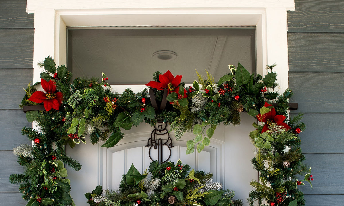 How To Hang Garland Around Front Door Village Lighting Company
