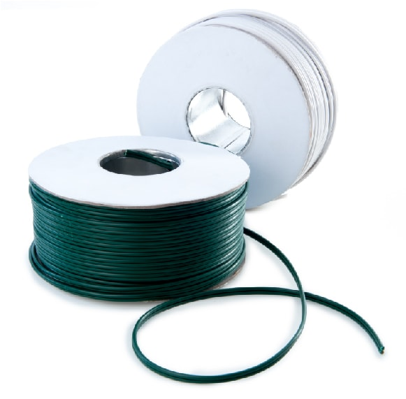 Spools of Green and White SPT-1 Lamp Wire / Plain Wire
