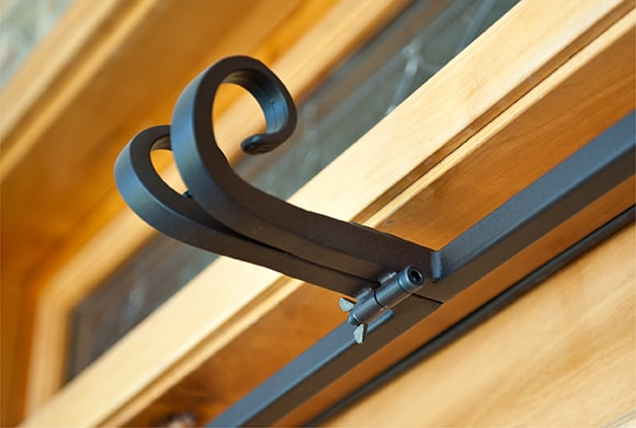 Close up of Village Lighting's Garland Hanger's Decorative Hooks