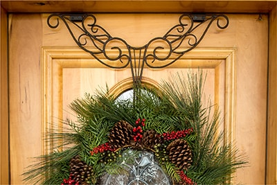 Village Lighting Antler Wreath Hanger with Low Hanging Wreath