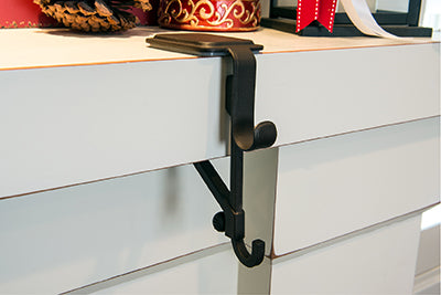Stocking holder / Fireplace Garland holder on thinner mantle