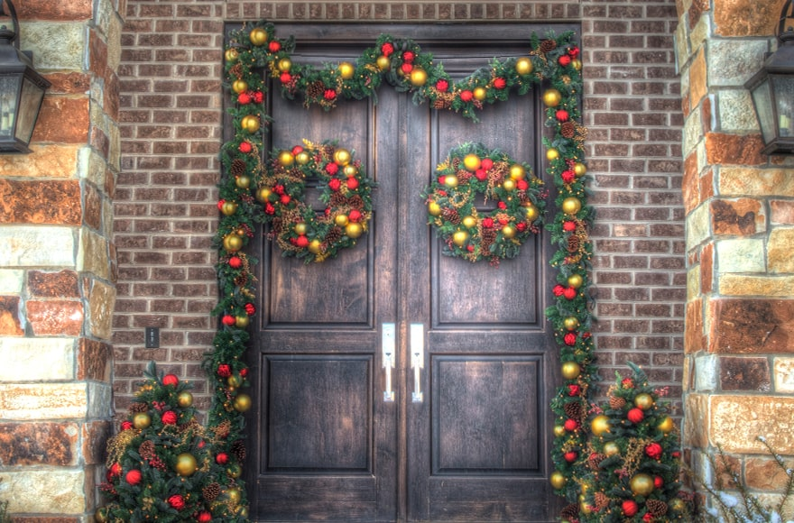 Village Lighting Double Door Garland Hanger