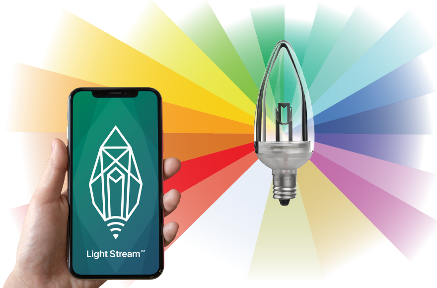 Light Stream Light Bulb and Smart Phone App from Village Lighting