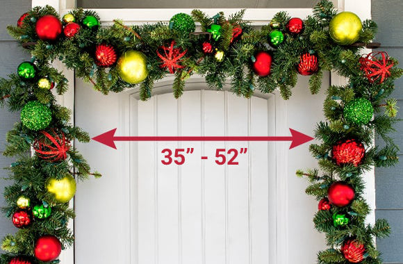 Village Lighting Slim Single Door Garland Hanger Holding Garland Above Doorway