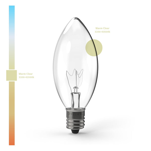 C9 (E12) Transparent Incandescent - Village Lighting Company