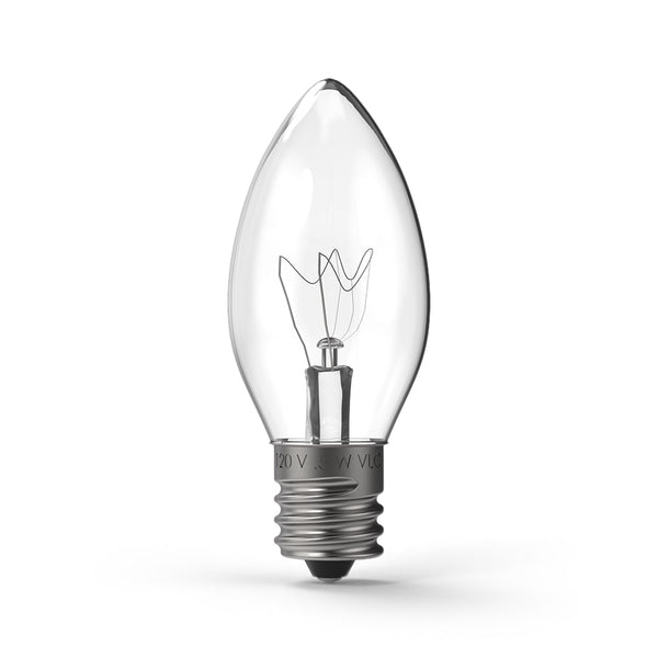 C9 (E17) Transparent Incandescent - Village Lighting Company