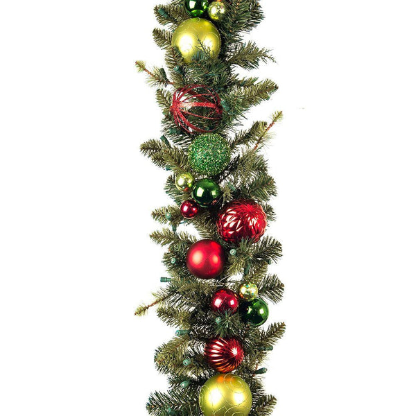 Festive Holiday Decorated Garland - Village Lighting Company