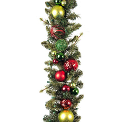 Decorated Garland - Festive Holiday Decorated Garland by Village Lighting Company
