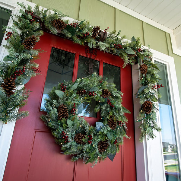 Winter Frost Decorated Garland - Village Lighting Company