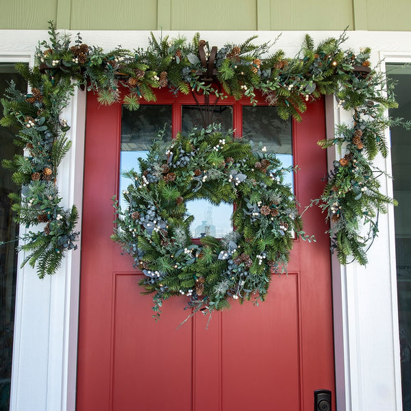 Rustic White Berry Decorated Garland - Village Lighting Company