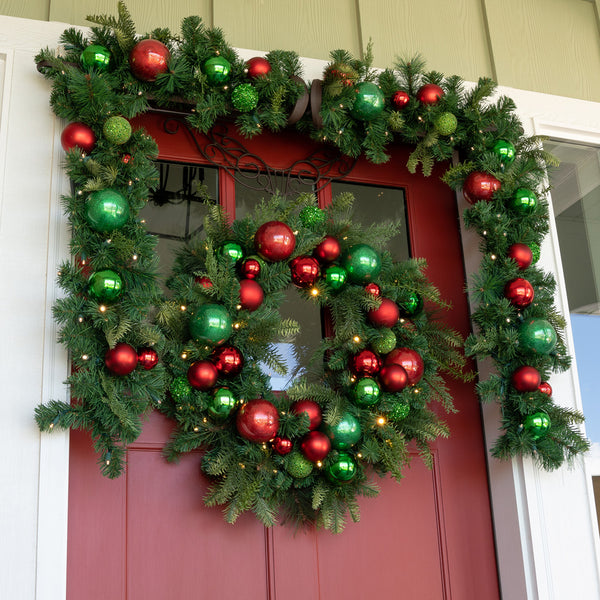 Christmas Cheer Red and Green Wreath - 30""