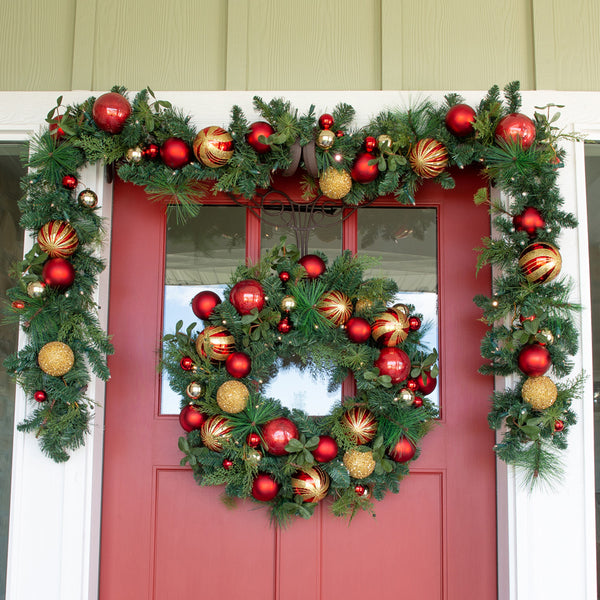 Christmas Classic Red and Gold Wreath - 30""