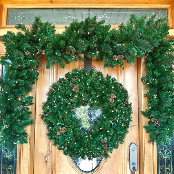 Black Forest LED Wreath - Village Lighting Company