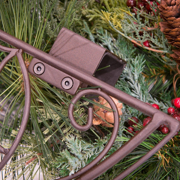 Holly Berry Wreath Hanger - Village Lighting Company