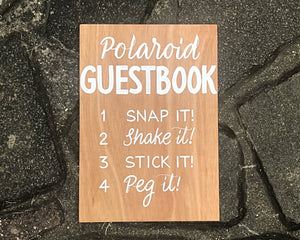 Polaroid Guestbook - Love Signage