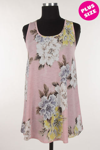 Light Pink flower Bloom Tank