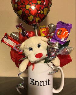 Valentines Bouquet & Your Choice of Cup