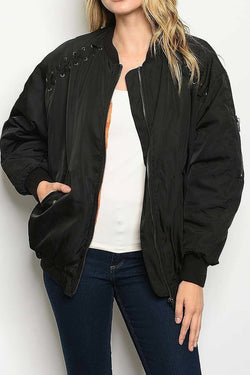 Criss Cross Bomber Jacket
