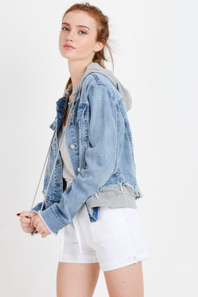 Detachable Hood Jean Coat