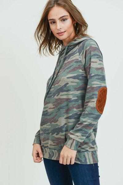 Camo and Patches Hoodie