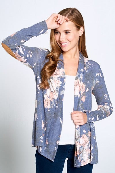 Floral and Patches Cardigan