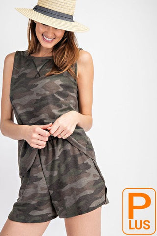 Camo Sleeveless Top