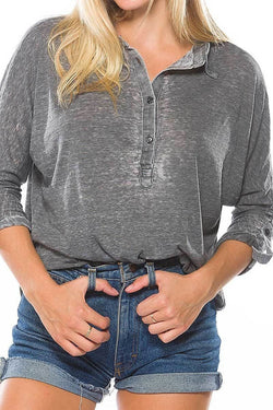Distressed Casual Top