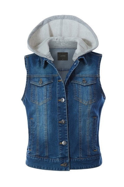 Vintage Detachable Denim Vest