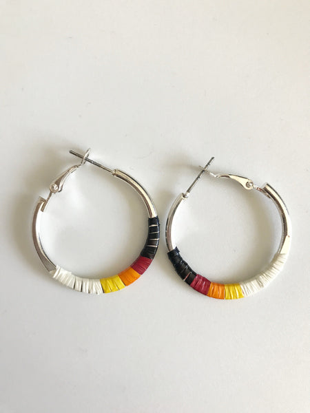 Hoop Sunburst Quill Earrings