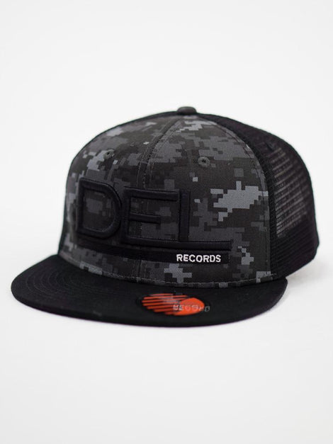 Del Records Camo Digital Gris