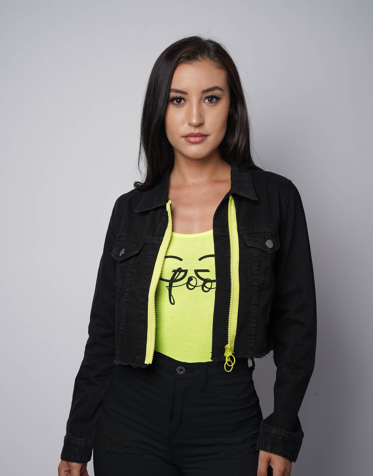 GGF Crop Zip Jacket