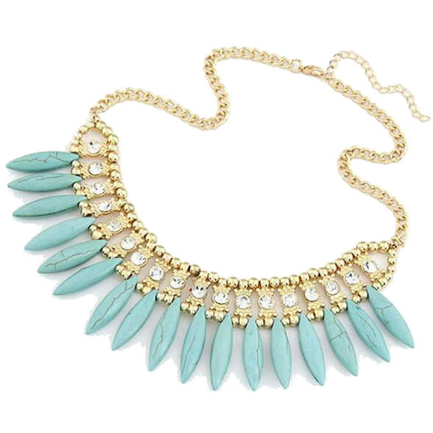 Bohemian Ice Bib Necklace