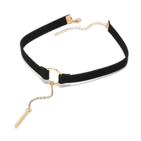 Gold & Silver Plated Pendant Choker Necklace