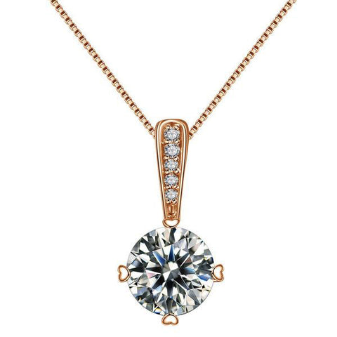 Austrian Water Drop Pendant Necklace