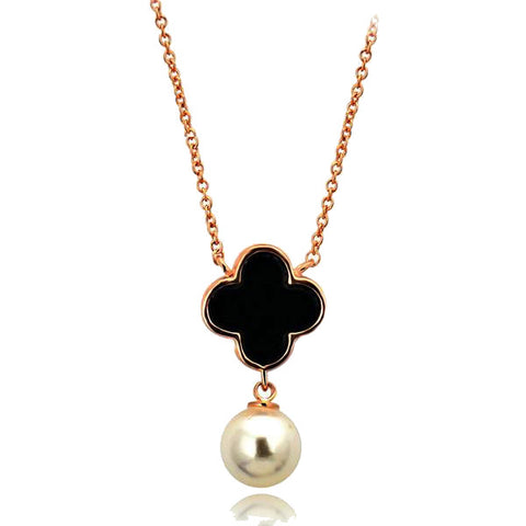 Pearl Clover Pendant Necklace