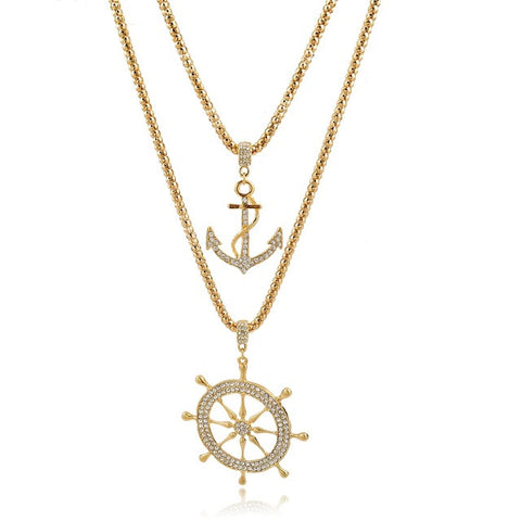 Sailor Pendant Layered Necklace