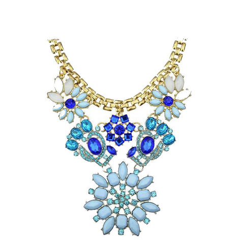 Blue Gem Choker Necklace