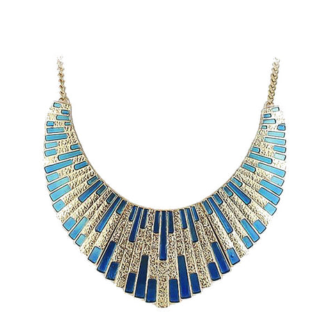 Geometric Pharaoh Bib Necklace