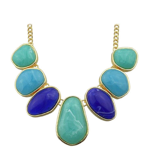 Colorful Water Drop Statement Necklace